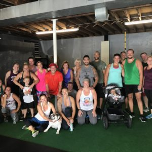 group shot of spark fitness family