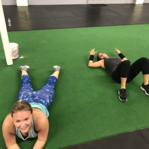Women laying down after a workout